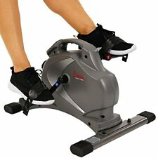 NEW Sunny Health & Fitness SF B0418 Magnetic Mini Exercise Bike Gray SHIPS FREE