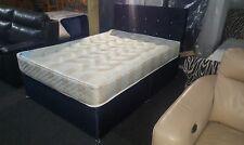 Crush velvet Double  divan beds choice of colour and headboard design