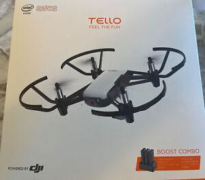 DJI Tello Boost Combo Quadcopter Drone W Camera White OPEN BOX Complete