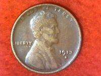 1913 s semi rare date San Francisco mint Lincoln wheat cent#52