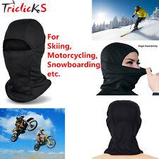 Outdoor Motorcycle Full Face Mask Balaclava Ski Neck Protection Black Cap Cover