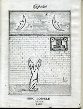 GEBE. RUE DE LA MAGIE. ERIC LOSFELD EDITEUR. 1961
