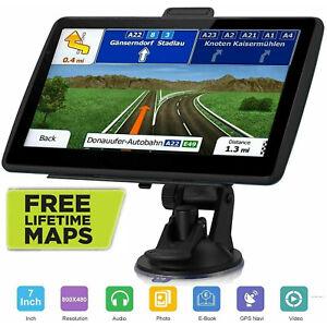 "7"" Inch Car & Truck GPS Navigation Navigator Sat Navi 8GB 256MB Canada Mexico US"