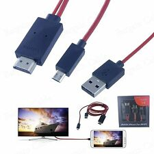 MHL Micro USB to HDMI Adapter Cable Samsung Galaxy S3 S4 S5 Note 2 Note 3 Note 4