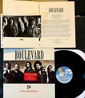 Boulevard Into the Street BLVD PROMO Vinyl LP + Press Kit, Bio Pic, MCA 42317 NM