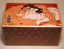 Yosegi zaiku SUMO Size6 7steps Japanese Puzzle hakone wood