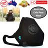 Kids Adult Face Mask Washable Anti Pollution Respirator Adjustable Straps H AU