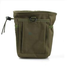 Military Molle Airsoft Tactical Magazine Mag DUMP Drop Pouch Small - OD Green