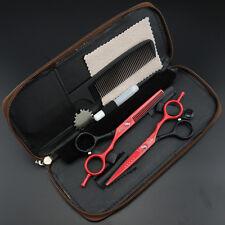 "5.5"" Pro. Hair dressing Scissors Salon Barbers Cutting+Thinning Shears set k344"