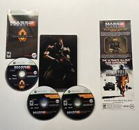 Xbox Box 360 Mass Effect 2 Collectors Edition Steelbook w/ Bonus disk
