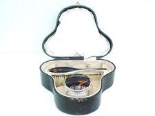 SILVER BIONDA Faux Shell Spazzola Per Capelli & barattolo di vetro, Sterling, marcata 1926
