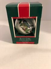 Hallmark Betsy Clark Home For Christmas Glass Ornament Dated 1989