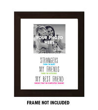 Best friend gift, Birthday, Funny Friend quote, Personalised photo print A4
