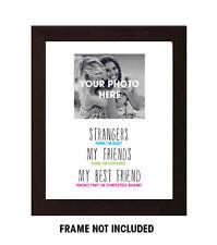Mejor Amigo De Regalo, Cumpleaños, Funny amigo citar, Personalizado Foto Impresión A4
