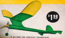 """Vintage BABY ZEPHYR Testors 17"""" PLAN for K & B .02 Free Flight Model Airplane"""