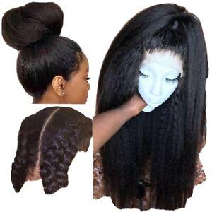 8A 250 Density Unprocessed Brazillian Kinky Straight Full Lace Human Hair Wig