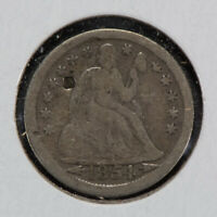 1854-O 10c SEATED LIBERTY DIME WITH ARROWS LOT#N533