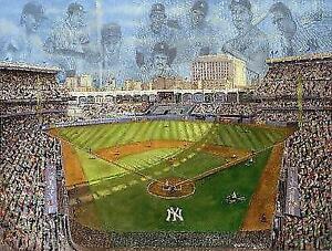 Coming Home Farewell to Yankee Stadium Lithograph Simon