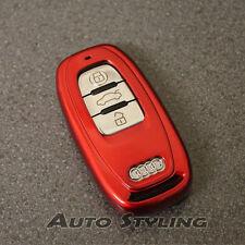 CHIAVE Rossa Copertura Audi Smart Remote CASE FOB Shell Skin Bag Protezione TAPPO SCAFO 59fr