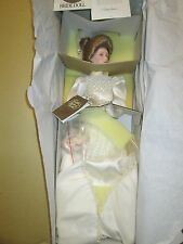 "Franklin Mint Gibson Girl Victorian Bride Doll 22"" Porcelain w/Necklace &Bouquet"
