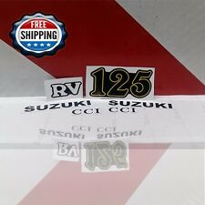 Suzuki Rv Decals Rv125 Emblem Stickers Reproduction Left And Right Full Set