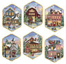 """Dimensions Gold Collection Counted Cross Stitch Kit 5"""" Long-Christmas Village Or"""
