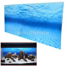 Blue Sea Ocean Aquarium Background Poster Picture Fish Tank Wall Decor Supply