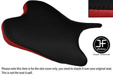 DESGN 2 BLACK DARK RED VINYL CUSTOM FOR YAMAHA YZF 600 08-15 R6 FRONT SEAT COVER