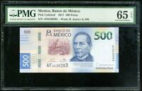 MEXICO 500 PESOS 2017 P NEW GEM UNC PMG 65 EPQ