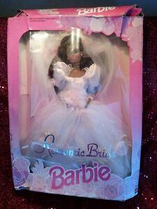 1992 Romantic Bride Barbie African American NRFB Mattel 11054