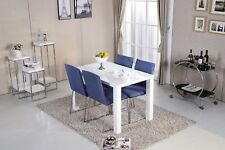 Dining Room Table Rectangular High Gloss White Kitchen Furniture 4-6 Seaters