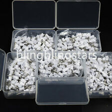 500 Pcs Dental Polishing Polish Prophy Cup Brush 4 Webbed White Latch Type