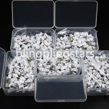 500 Pcs Dental Polishing Polish Prophy Cup Brush 4 Webbed White Latch Type