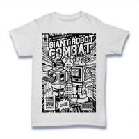 GIANT ROBOT COMBAT T SHIRT Comics Kids mens S-3XL