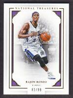 2015-16 Panini National Treasures Basketball #68 Rajon Rondo /99