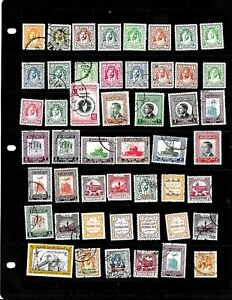 JORDAN: NICE  'VINTAGE'  STAMP COLLECTION DISPLAYED ON 1 SHEET SEE SCANS