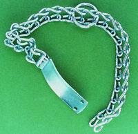 collare per cani tipo pesante a scaletta cm 60 in acciaio con targhetta cane dog