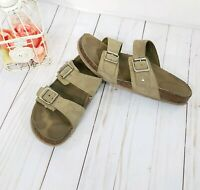 Steve Madden Brando Footbed Sandals - Women's Size 8.5 M Taupe Suede
