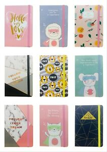 A5  Premium Hardcover Notebook Lined Ruled Journal Notepad Office School Gift