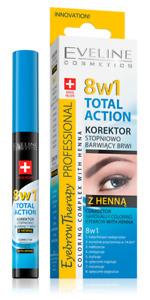 Eveline Total Action Corrector Gradually Coloring Eyebrows 14 Days Henna 10ml