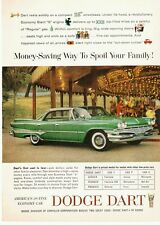 Original 1960 green DODGE DART 4-Door family car auto carousel magazine PRINT AD