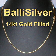 "20"" 50cm Real 14kt GOLD FILLED BOX 012 Chain NECKLACE Alternative to Solid Gold"