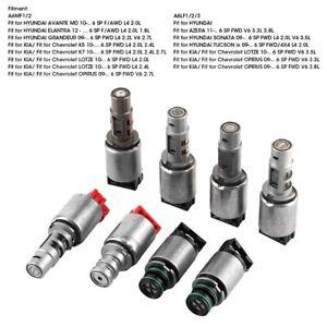 8Pcs Transmission Solenoid Kit Set A6MF1/2 A6LF1/2/3 For Hyundai KIA Chevrolet