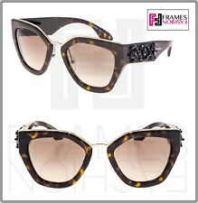 9c11de7287 PRADA Ornate Bead Embellishment Pr10ts Brown Tortoise 10t Mirror Sunglasses