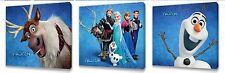 Disney Frozen Kids canvas wall art plaque pictures set of three II