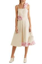 PASKAL Ruffle-trimmed cotton-blend midi dress 1500$ SIZE M