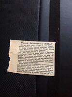 A1-8 Ephemera 1918 Ww1 Falmouth Private Albert Prello Killed In Action France