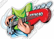 """Bass Guitar Player Music Band Rock Car Bumper Window Vinyl Sticker Decal 5""""X4"""""""