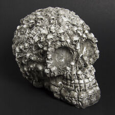Resin Human Head Skull Skeleton Tabletop Decoration