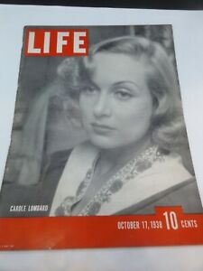 Life -October 17, 1938-Carole Lombard, War in China, Queen Elizabeth Christens